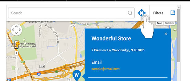 Google Maps Store Locator with Geo-Location in Super Store Finder for WordPress