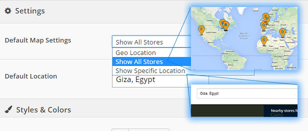 Extensive Map Settings in Super Store Finder for WordPress