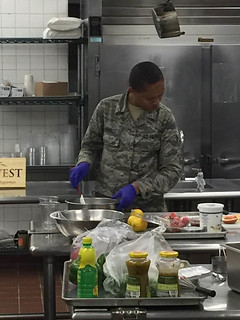 JBLM Airman Preparing Parfaits