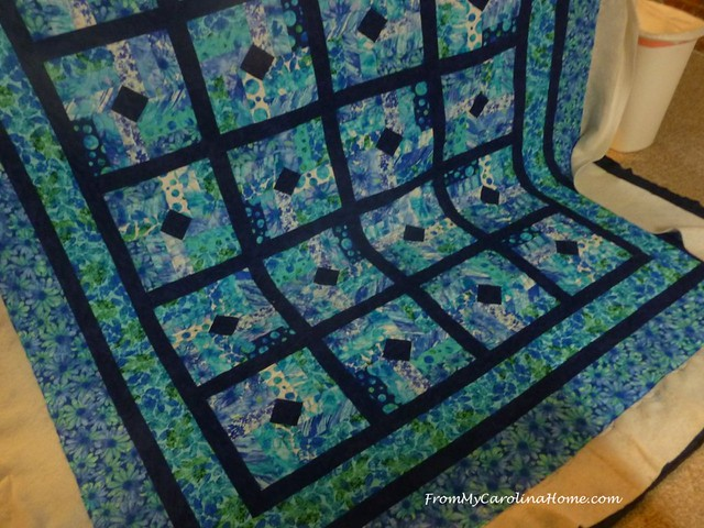 Blue Hurricane Quilt at FromMyCarolinaHome.cm