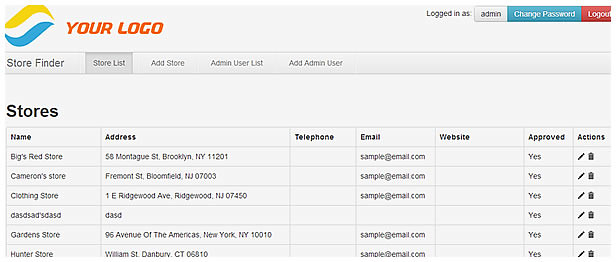 Powerful and Secure Admin Store Locator