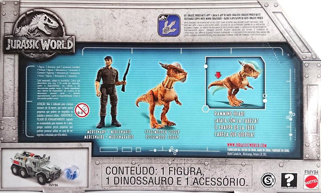 Fallen Kingdom Stygimoloch Stiggy /& Mercenary Action Figure Story Pack