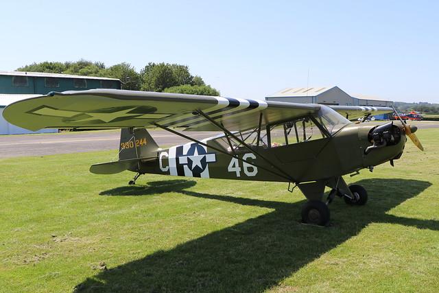 G-CGIY/330244  -  Piper J-3 Cub  -  Private  -  EGBO 27-6-19