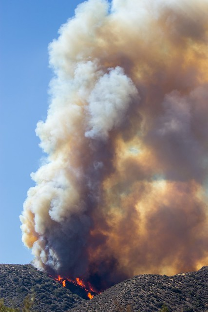 LAFD Responds to Blue Cut Wildfire in San Bernardino County