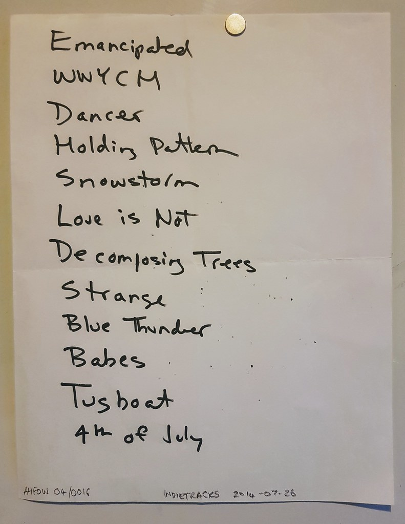 Dean Wareham at Indietracks - setlist - 2014