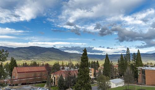 ashland grizzly peak sou southern oregon university al case landscape nikon campus clouds sky d750 nikkor 20mm f18g