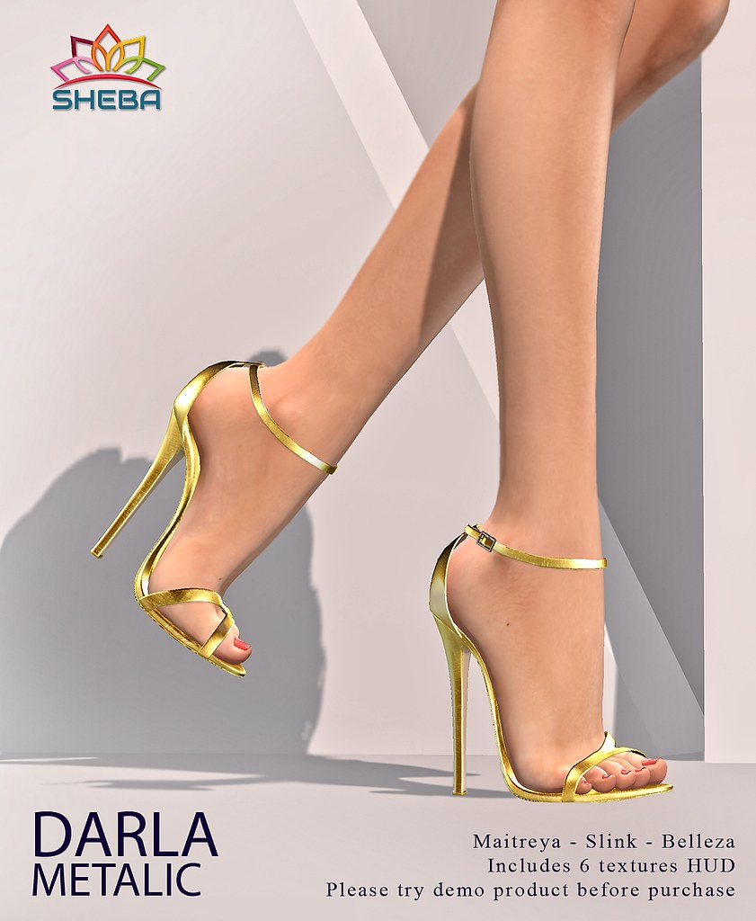 [Sheba] Darla Heels Metalic