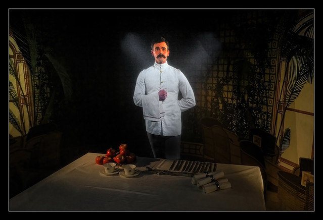 Belfast NIR - Titanic Belfast video projection first class dining room