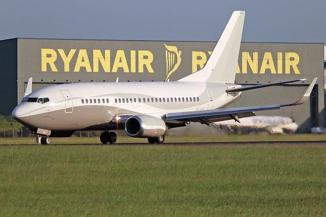 9H-MAC  -  Boeing 737-548(WL)  -  Private  -  STN/EGSS 27-6-19