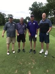 TPC Deere Run Silvis, IL  L-r: John Biernbaum '14, Scott Conlin, Brad Bainter '79 '83 and Scott Williams