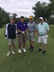 TPC Deere Run Silvis, IL  L-r:  Dave Markward '76 '86, Mark Kaczmarek '73, Gary Hirsch '79 and John Lowelle '72 '73