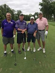 TPC Deere Run Silvis, IL  L-r: Tom Tomaszewski '70 '72, Jim Miner '72 '73, Dave Wickness '68 '69 and Todd Sieben '67