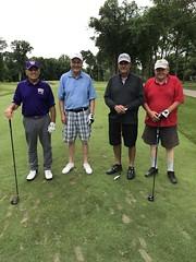 TPC Deere Run Silvis, IL  L-r: Jim Lodico '62 '75, Bill Kested, Harold Mawdsley and Bob Steinman '69 '72