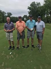 TPC Deere Run Silvis, IL  L-r: William Kussmann '86, Steve Fleming '83, Dirk Fuqua '84 and Scott Haines