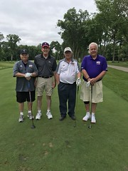 TPC Deere Run Silvis, IL  L-r: Jim Hissong '83, George Engeln '74, Dick Dice '72 and Wes Llewellyn