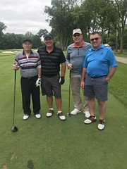TPC Deere Run Silvis, IL   L-r: Ellis Atherton, Bob Atherton '88, Gene Heeren and Shane Heeren