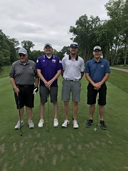 TPC Deere Run Silvis, IL   L-r: Ron Runser, Michael Jones '12, Paul Runser and Isaac Gerard
