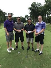 TPC Deere Run Silvis, IL  L-r: John Reynolds '91 '04 '08, Vic Moreno, Rene Sandoval and David Gass '93