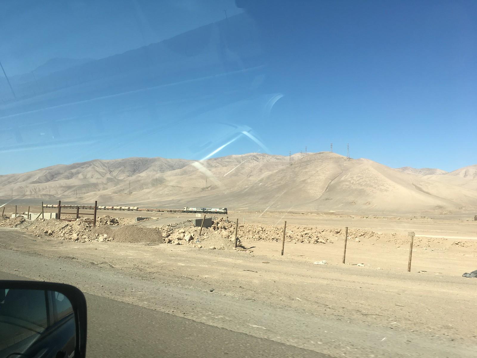 Train between Calama and Antofagasta