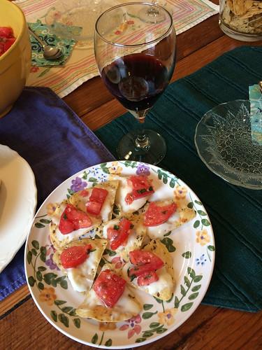 "Super Tuscan with ""bruschetta"""