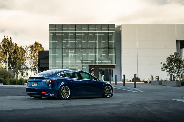 TSW Avalon - Tesla Model 3 brushed bronze rotary forged wheels rims - Air Suspension - Bagged - 07