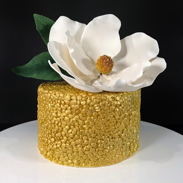 Magnolia Glitter Cake