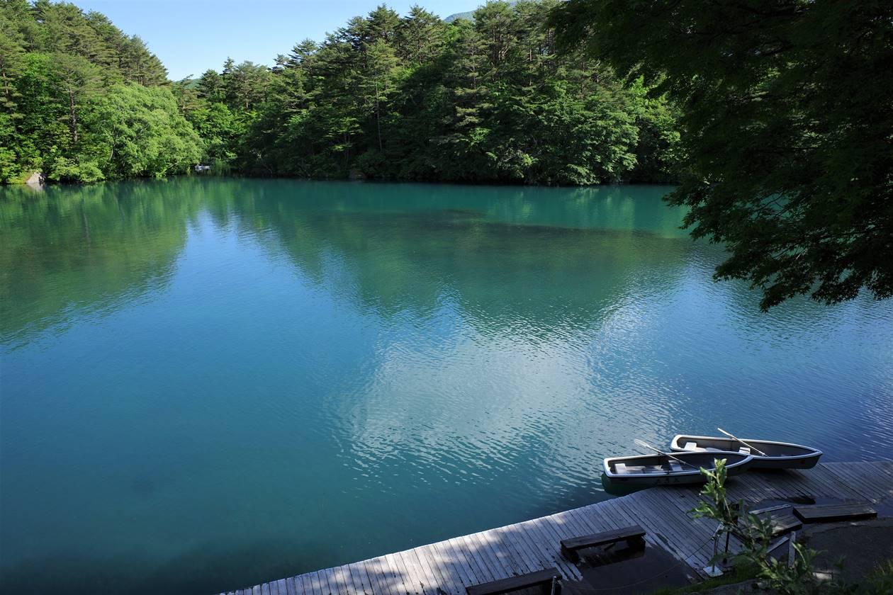 五色沼・毘沙門沼とボート
