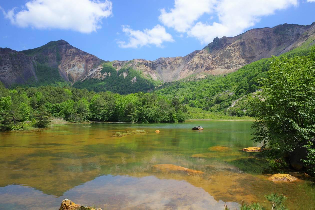 銅沼からの磐梯山