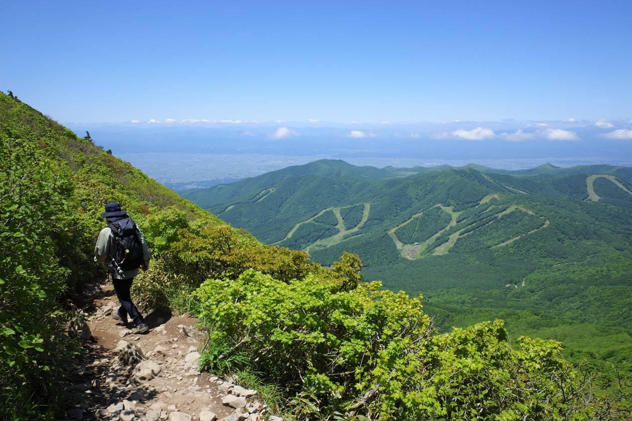 磐梯山から下山