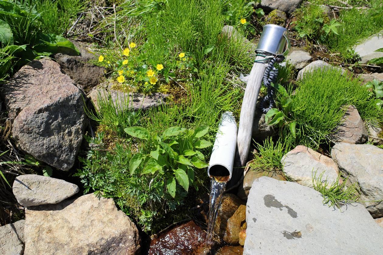 磐梯山 黄金清水の水場
