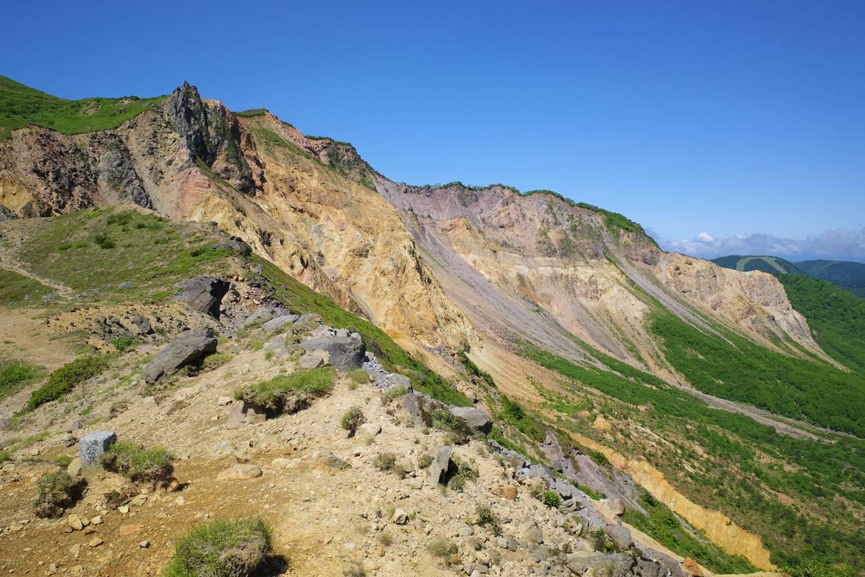 磐梯山の火山風景