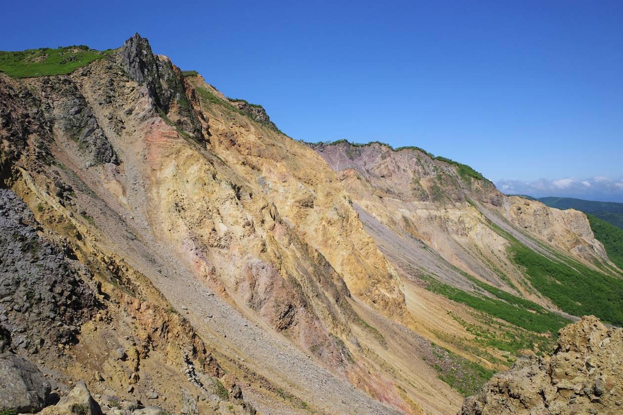磐梯山の天狗岩と火山帯