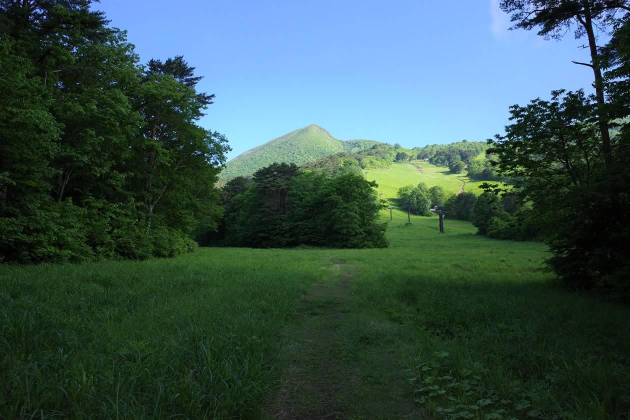 猪苗代スキー場からの磐梯山