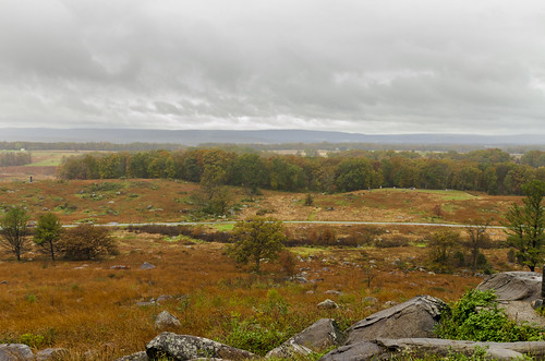 gettysburg pennsylvania us national military park landscape outdoor historical view from devils den warfield ridge