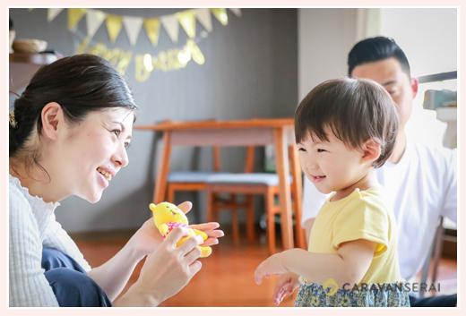 ご自宅で女の子1歳のお誕生日撮影 バースデーデコレーション