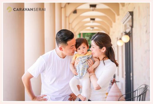 公園で家族写真のロケーションフォト フラリエ 名古屋市 自然でおしゃれ