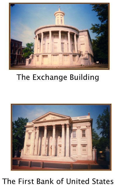 Philadelphia - Pennsylvania - The Merchants' Exchange Building - The First Bank of United States -