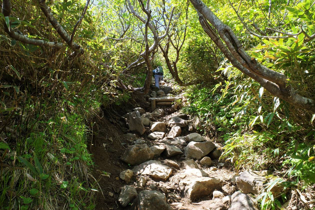 磐梯山 最後の直登