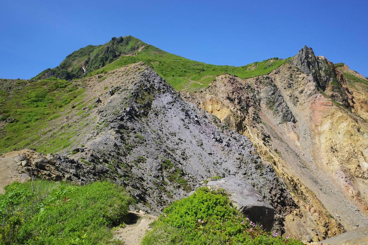 磐梯山と天狗岩