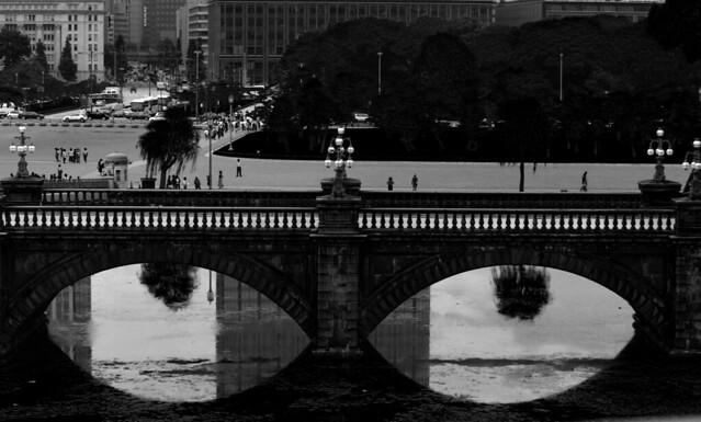 Meganebashi or Eyeglass Bridge