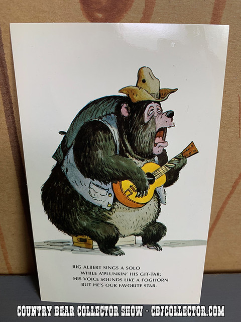 Vintage Walt Disney World Big Al Postcard - Country Bear Collector Show #209