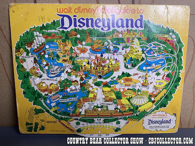 1979 Disneyland Dial Map featuring Bear Country - Country Bear Collector Show #210