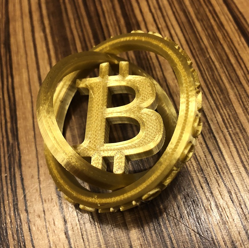 Rob's 3D-Printed Bitcoin Spinner