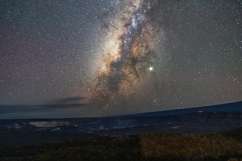 Milky Way over Halemaumau