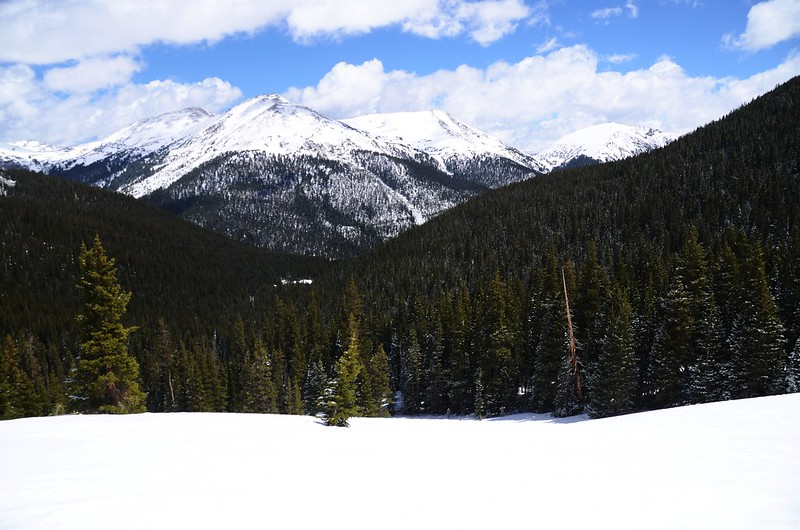 Snowy peaks at butler gulch in spring (25)