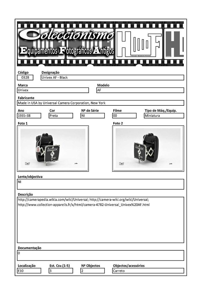 Inventariação da colecção_0328 Univex AF - Black
