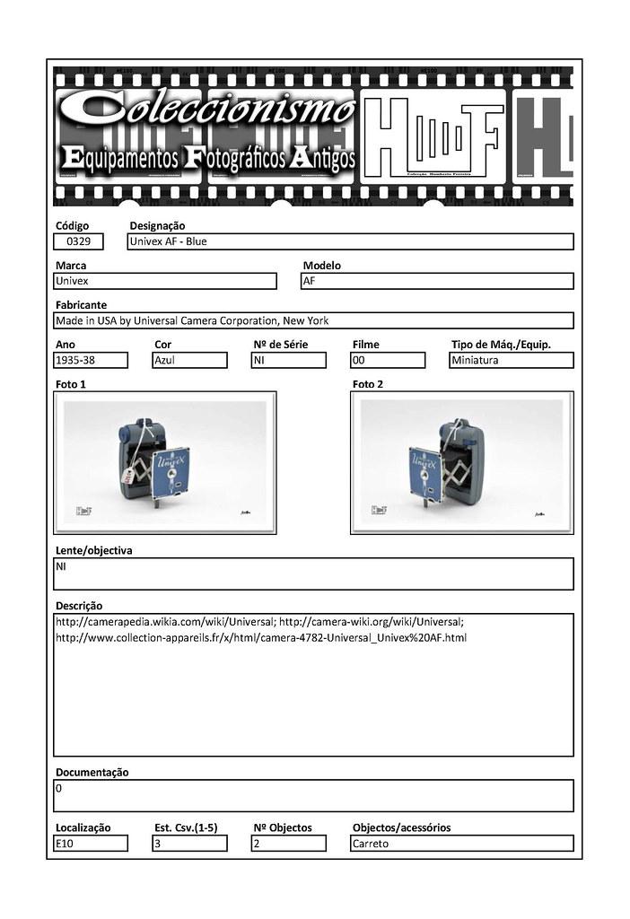 Inventariação da colecção_0329 Univex AF - Blue