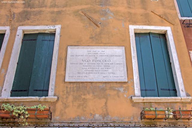 Casa di Ugo Foscolo, curiosità sestiere Castello