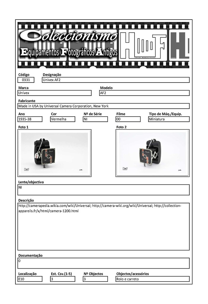 Inventariação da colecção_0331 Univex AF2