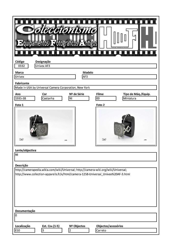 Inventariação da colecção_0332 Univex AF3
